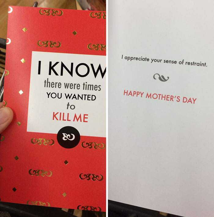 Looking For A Mother's Day Card For My Biological Mother Who Gave Me Up For Adoption - Is This Too Dark?
