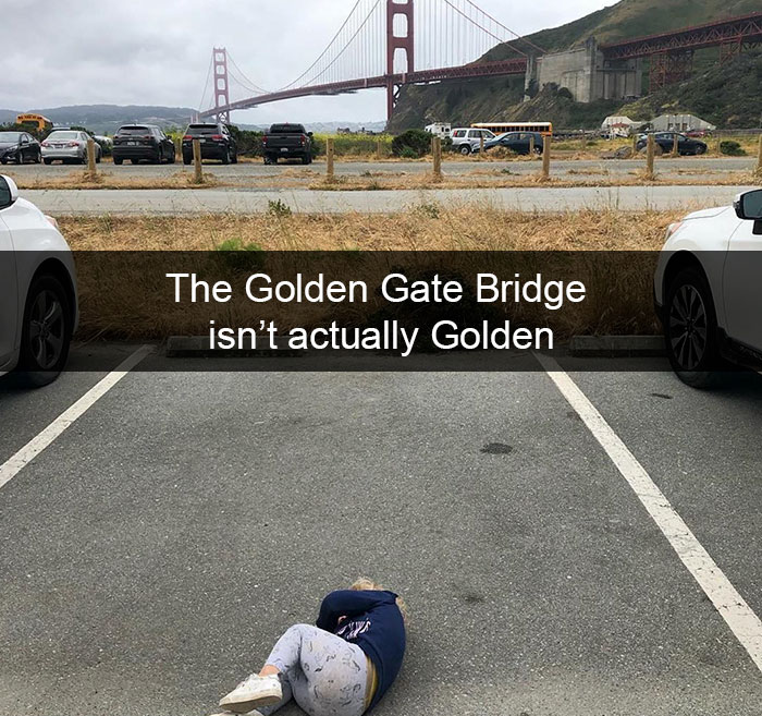The Golden Gate Bridge Isn't Actually Golden