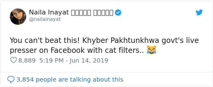 Pakistani Government Officials Accidentally Turn On Cat Filter During Facebook Live, Funny Reactions 4