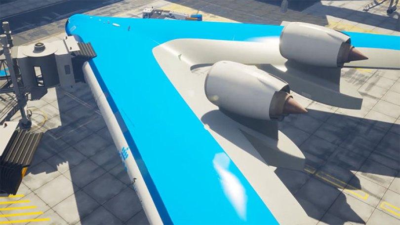 new shape flying v plane studio oso 2 5cf6192597115  700 - Avião de passageiros projetado por estudante economiza 20% de combustível