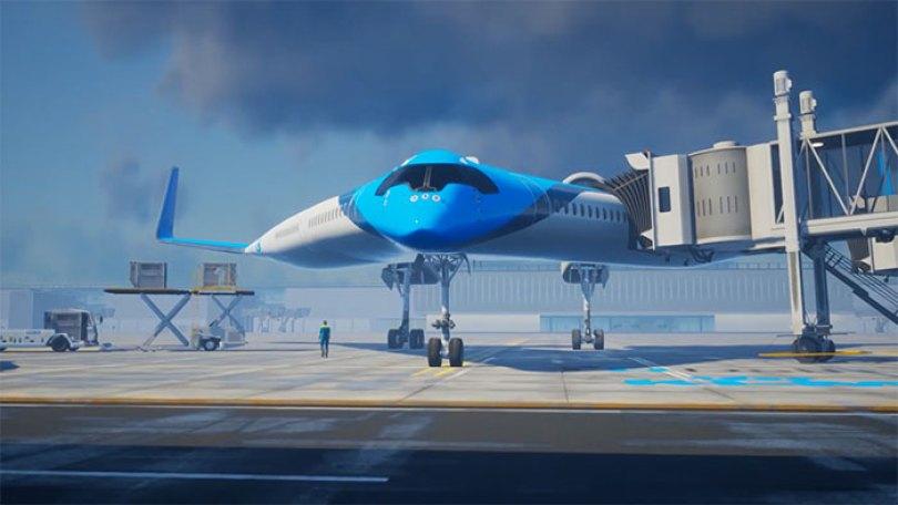 new shape flying v plane studio oso 5 5cf6192b53ed8  700 - Avião de passageiros projetado por estudante economiza 20% de combustível