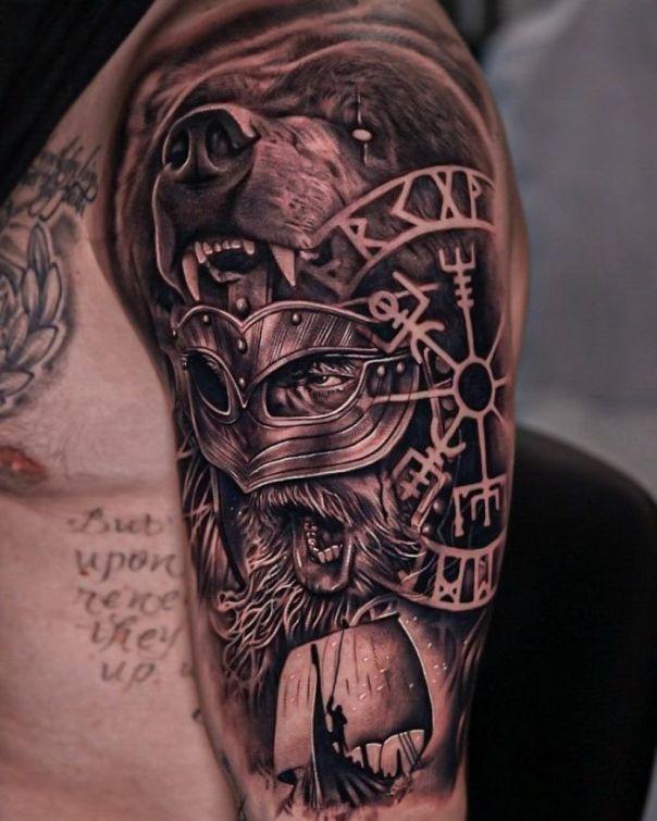 Detailed Viking Tattoo