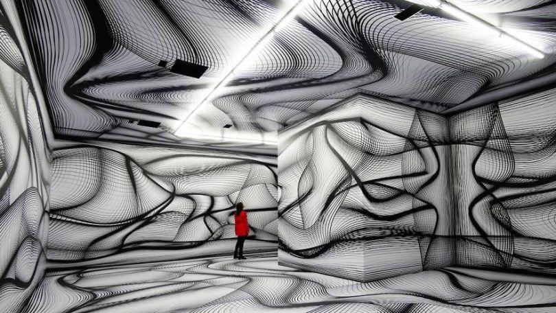 Peter Kogler 2018 Grand Palais 5d494e9a9f245  880 - Mestre de instalação de arte e ilusões cria quartos hipnóticos