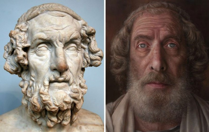 Artist makes hyperrealistic portraits with acrylic painting giving life to busts and antique paintings 5d7641581c39f  880 - Parece Real: Pintor sul-coreano faz obras hiper-realistas chocantes!