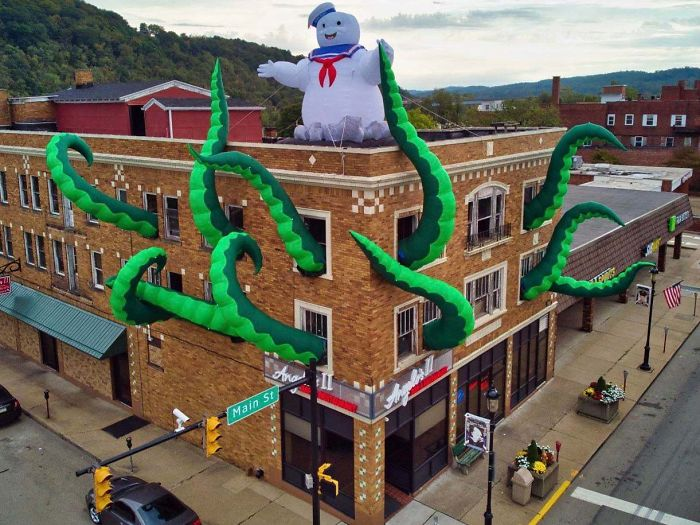A Restaurant In My Town Dressed Up For Halloween Ghost Busters Style