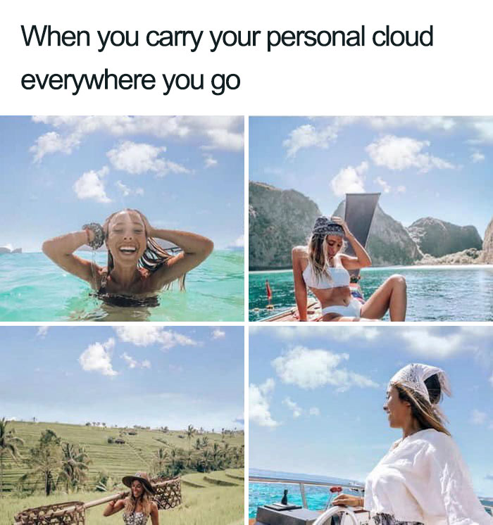 That Cloud Wont Leave Her Alone..