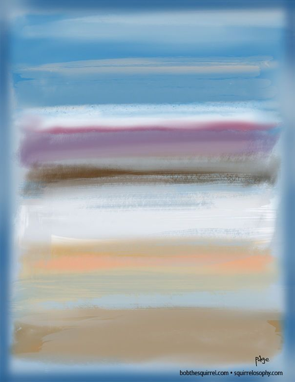 In The Style Of Abstract Expressionist Mark Rothko
