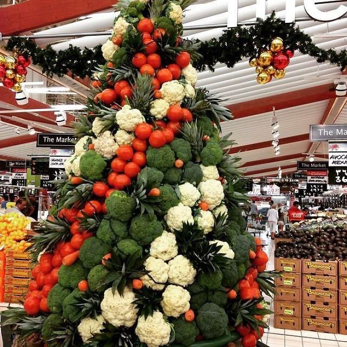 Christmas Tree In The Supermarket