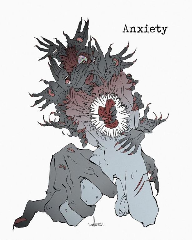 Mental-Illnesses-Monsters-Silvi-Illustrations