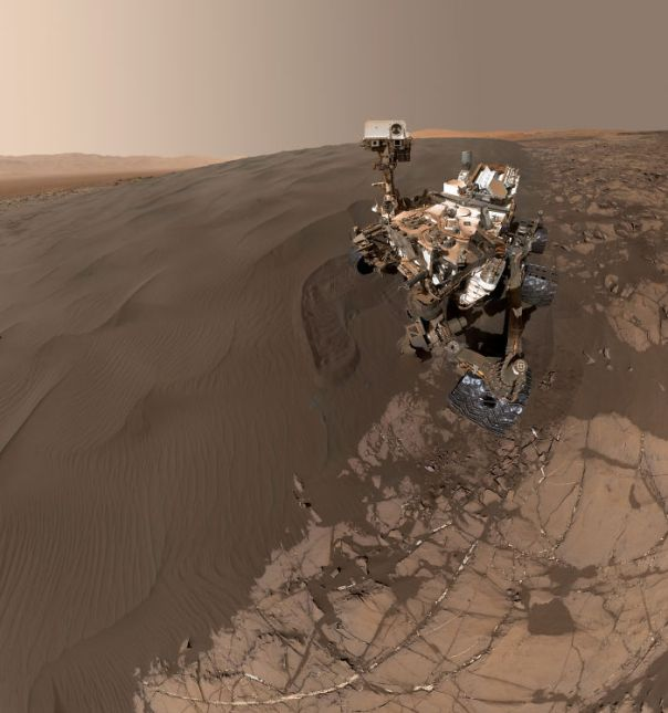 Curiosity Self-Portrait At Martian Sand Dune