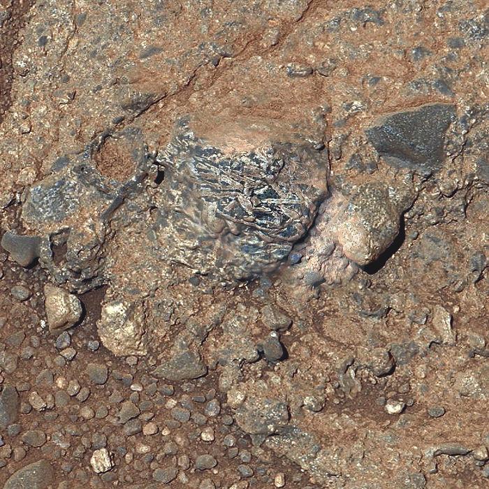 Martian Rock 'Harrison' In Color, Showing Crystals