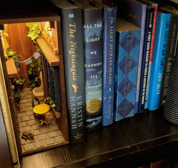 Small Alley In Bookshelf