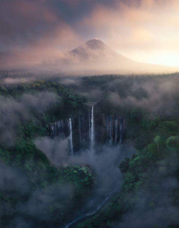 Tumpak Sewu Waterfall, Indonesia By Tony Wang