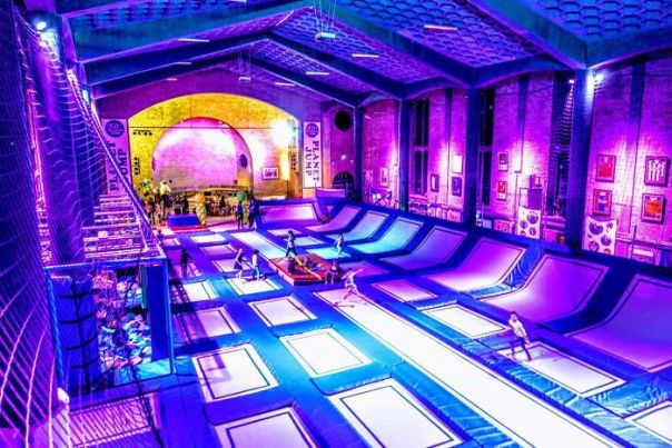 Church Turned Into A Trampoline Park. The Hague, Netherlands