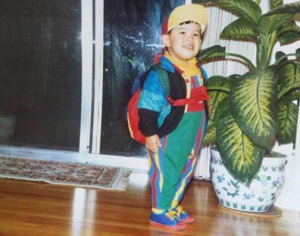 My Mom Dressed Me Like This So I Was Easy To Spot When She Picked Me Up...