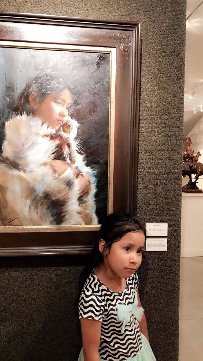 My Daughter And This Painting