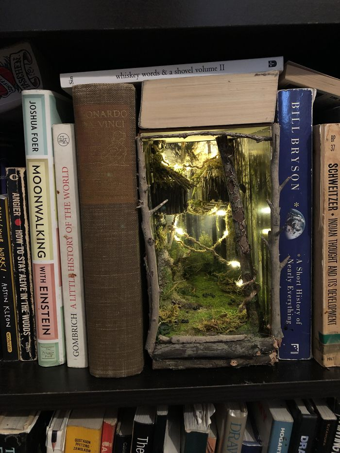 Made My First Booknook! A Double Wide Endor Inspired Wilderness Piece