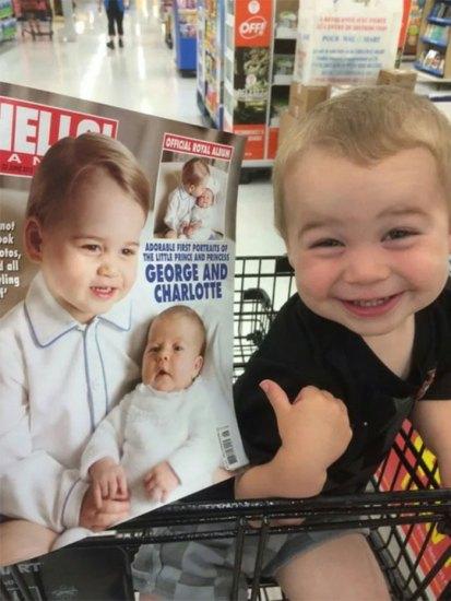 Bebê igualzinho ao príncipe George