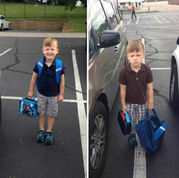 First Day Of School vs. Second Day Of School