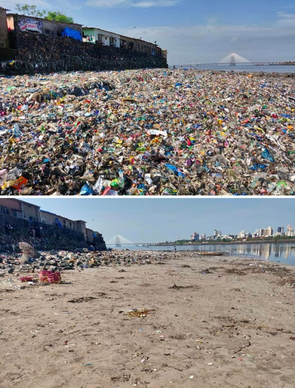 The Youth Have Been Cleaning The Mithi River (Mumbai, India) For Over A Year Now. Then vs. Now