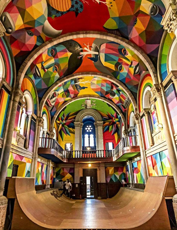 A 100-Year-Old Church In Spain Converted Into A Skatepark