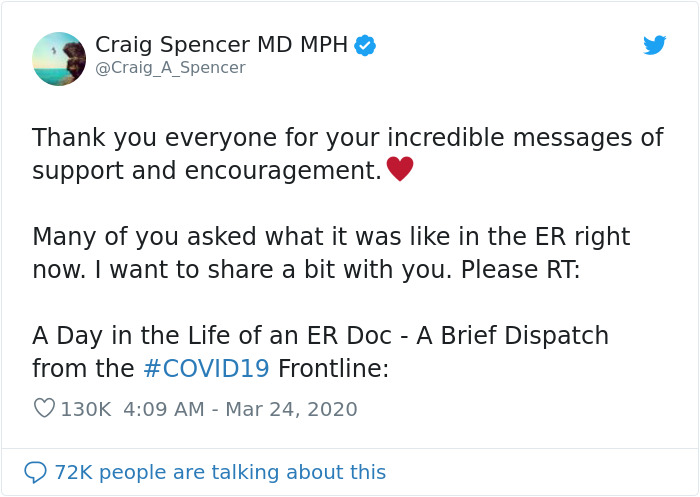 'Too Late To Stop This Virus': NYC ER Doctor Tweets What A Day In His Life In The Hospital Looks Like