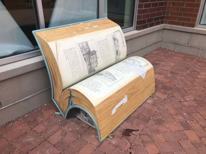 This Bench That Looks Like A Book