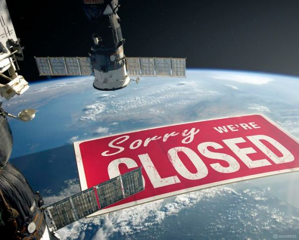 View From The Space Station Today.