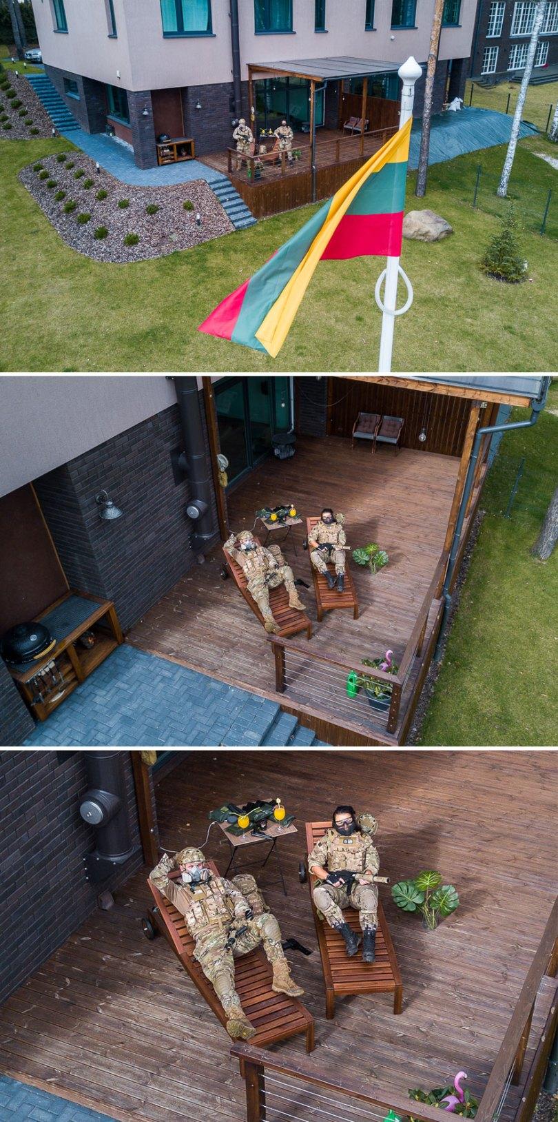 drone photography quarantine portraits coronavirus lithuania adasvasiliauskas 2 5e79c7f2b35f5  880 - Fotógrafo da Lituânia consegue trazer diversão durante a Quarentena