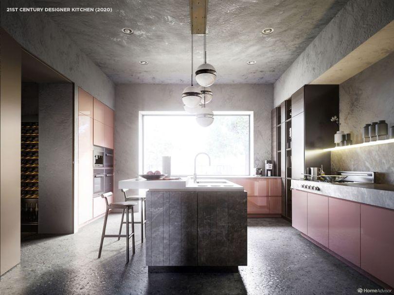 06 2000s kitchen 5e8c995fd3fee  880 - Cozinha refeita digitalmente mostra evolução de 500 anos