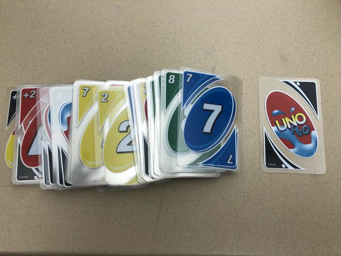 Was Cleaning Out A Closet And Found These Uno Cards That Are Water Resistant