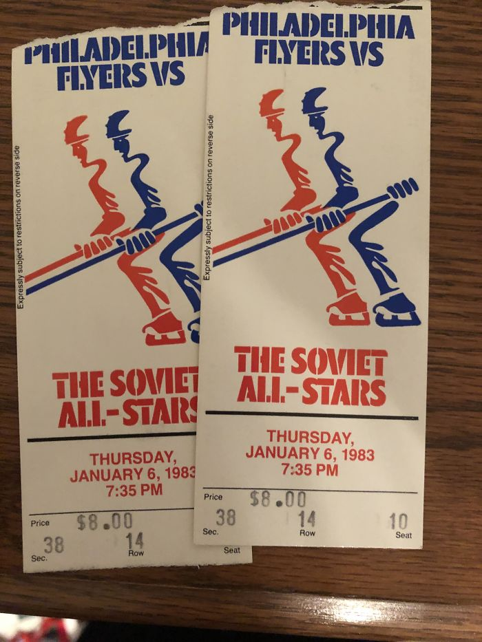 My Dad Found These Tickets While Quarantine Cleaning
