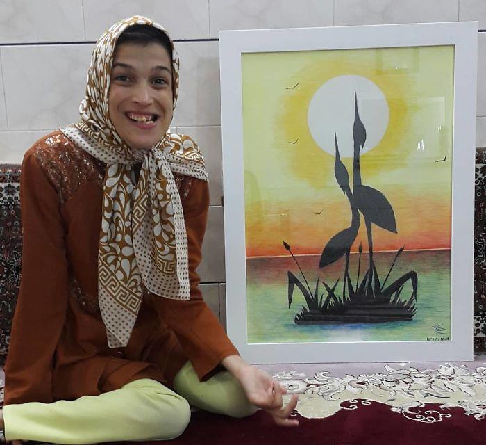 Desativado-Iranian-Artist-Draws-With-Feet-Fatemeh-Hammami-Nasrabadi