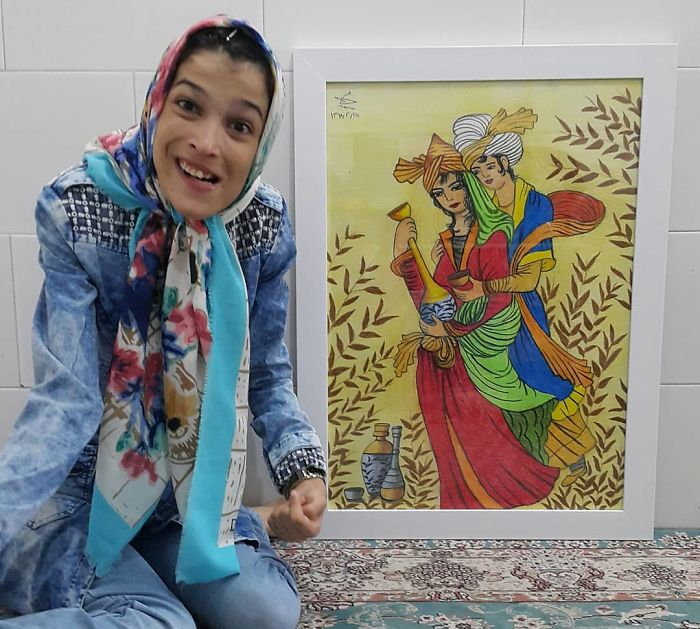 Iranian artist is thrilling the world by painting portraits with his feet 5ea6fb9586d10  700 - Você não vai acreditar! Artista desafia a deficiência desenhando com o pé