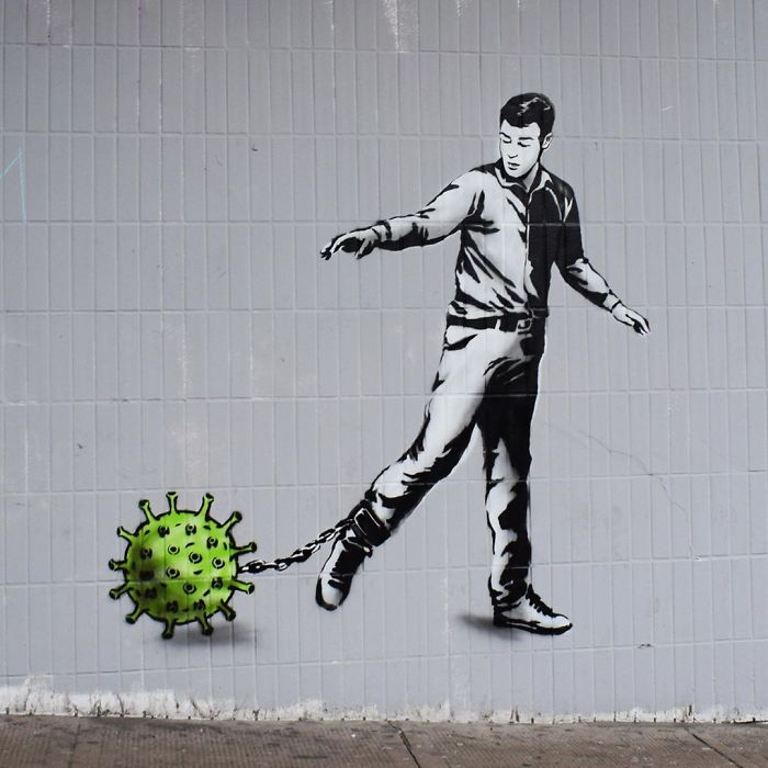 Glasgow, UK. Artist: The Rebel Bear