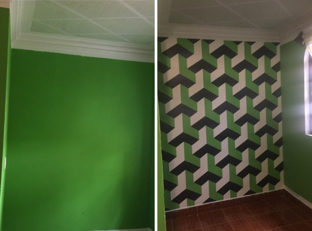 I got bored and decided to paint my room...