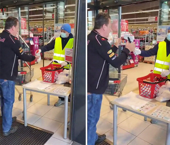 Austrian Supermarket Taking Precautions