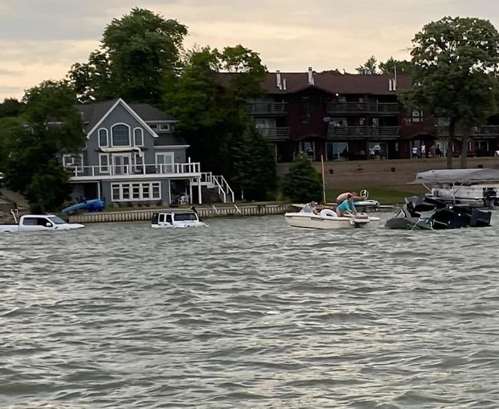 This Guy Sunk His Raptor And Jeep Trying To Save His $300,000 Boat That Was Sinking