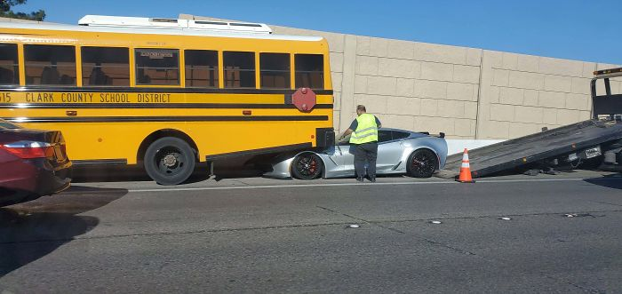 Don't Tailgate A School Bus When Your Car Is Shaped Like A Door Stop