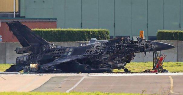 Technician 'Accidentally' Fires Vulcan Cannon & Obliterates F-16 Sitting On The Runway