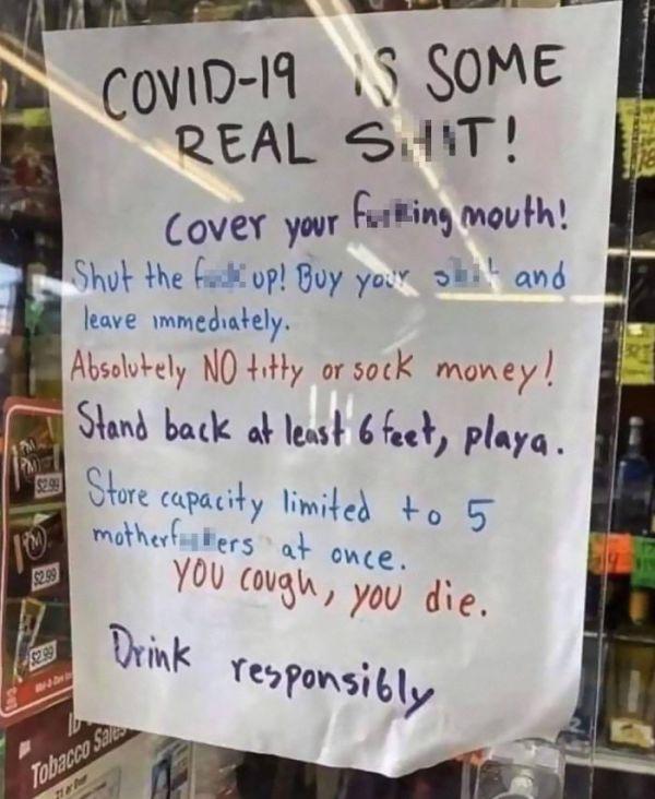 Covid-Restaurant-Shop-Signs