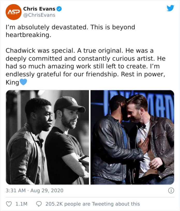 Chadwick Boseman's Co-Star Reveals The Last Message That He Received From Him