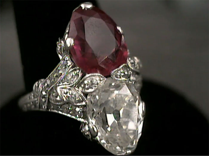 Diamond and ruby ringworth $400K