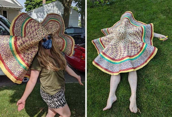 Found This Utterly Ridiculous Giant Hat At An Estate Sale In Milwaukee. Great For Confusing Prey Before You Spit Poison In Their Eyes