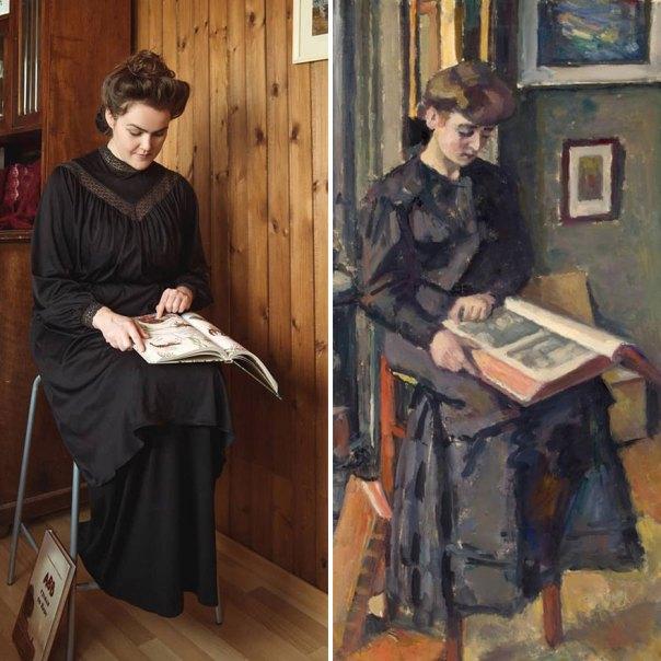 "Charles François Prosper Guérin ""Girl Reading A Book"" (1906)"