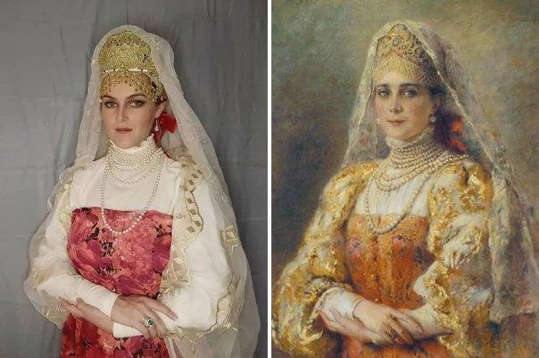 "Konstantin Makovsky ""Portrait Of Countess Yusupova In The Russian Costume"" (1900)"