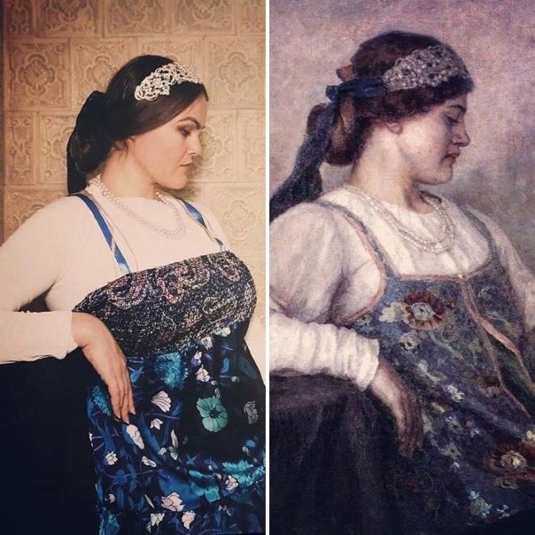 "Vasily Ivanovich Surikov ""Portrait Of NF Matveeva"" (1909)"