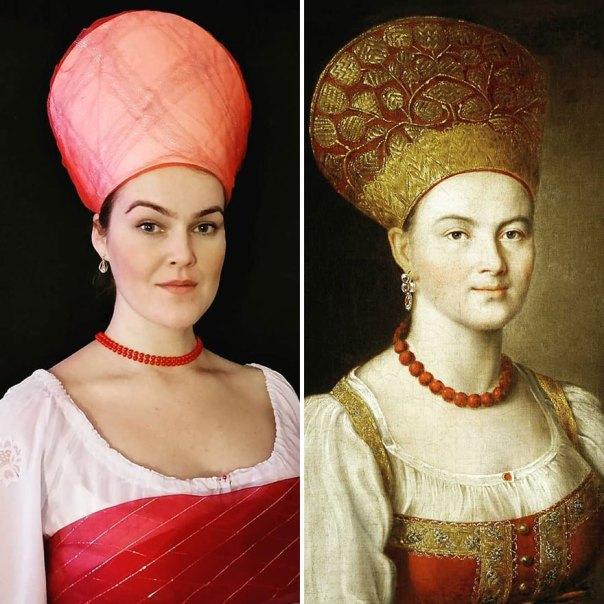 """Ivan Argunov """"Peasant Woman In Russian Costume"""" (1784)"""