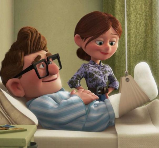In Pixar's Up (2009) Carl And Ellie Break Into Their Paradise Falls Savings Jar In Order To Pay For Carl's Hospital Bill, This Is Actually A Clever Reference To The Fact That The American Healthcare System Is Literal Garbage
