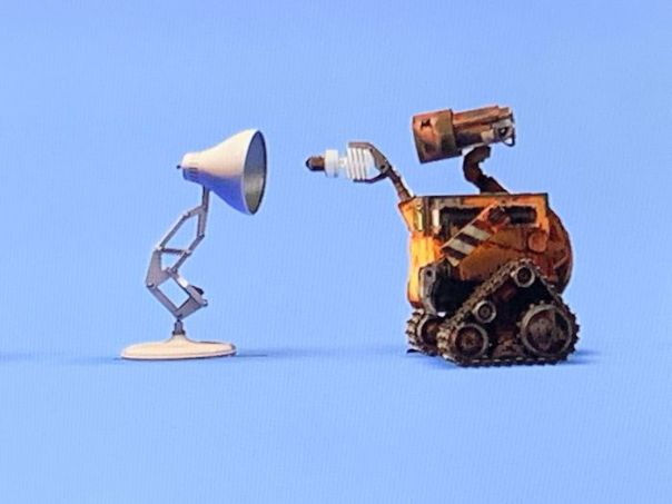"In The Pixar Logo After The Credits Of Wall-E, Wall-E Replaces Luxo Jr.'s Lightbulb With An Environmental Friendly Bulb After His ""Round"" Bulb Goes Out"